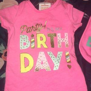My 1st Birthday Shirt and Bib